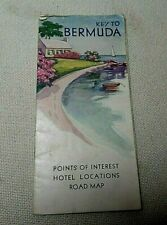 Vintage 1930 Bermuda Points Of Interest Hotel Locations Road Map