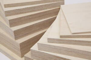 Birch Plywood Boards 6mm 9mm 12mm 15mm 18mm 24mm 1x1 - 4x2 Cut Size Sheets BB/CP