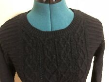 MOSSIMO Black Cable Knit Pullover Sweater Size S/P