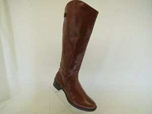Merona Brown Faux Leather Zip Knee High Fashion Boots Size 9 M