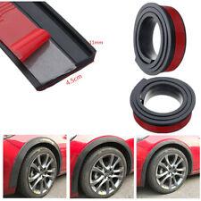 2X Black 4.5cm/1.5M Widen Car Fender Flare Wheel Eyebrow Trim Protector Strip &
