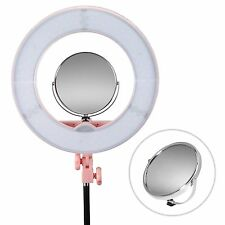 Double-sided Swivel Polished Adjustable Stand Magnify Makeup Mirror W/ Hot Shoe