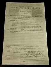 Babe Ruth New York Yankee 1st Contract Copy  Official Game Giveaway Version