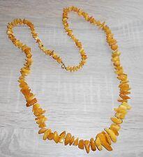 Alt- Natur- Bernstein- Collier-Kette- Amber- Necklace- Butterscotch-49g-94cm