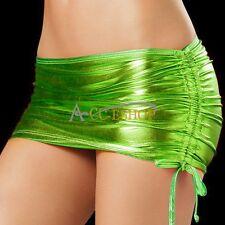 Sexy Women's Lingerie Metallic Shiny Mini Skirt Wet Look Party Club Wear Costume