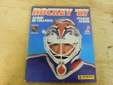 1987 Vintage Panini Hockey '87 Sticker Album with Stickers 395/396 in Album