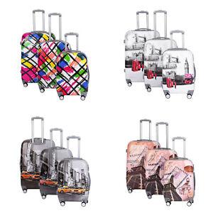 Hard Shell Cabin Suitcase 4 Wheel Luggage Trolley Case Lightweight Ryanair Bag