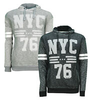 Soul Star NYC 76 Overhead Hoodie Men's Fleece Sweatshirt Hooded Top Black Grey