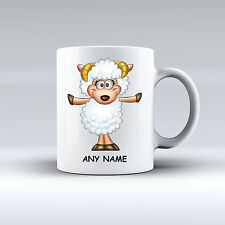 Personalised Funny Sheep Birthday Gift Present White Mug Cup Any Name