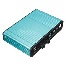 External Sound Card USB 6 Channel 5.1 Audio S / PDIF Optical for PC Light Bluey7
