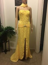 Jovani Strapless Yellow Gown Size 6 / Prom/ Pageant / Gown