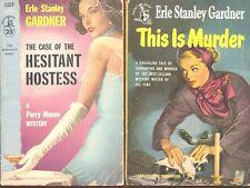 2 Pocket Books Vintage Collectible Paperbacks - Erle Stanley Gardner Classics