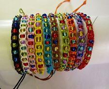 Bead Boho Friendship Bracelet Adjustable Hippy Festival Set 10 pieces Unisex