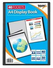 Tiger A4 Black PRESENATION  Display Book Folder  Cover  40 Pockets 80 views