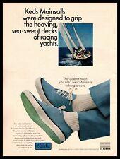 1965 Keds Mainsails Shoes Racing Yacht Sailboat Uniroyal US Rubber Sole Print Ad