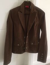 Ladies Levi's Small Brown Cord Jacket Size Small UK 8-10