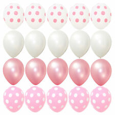 20X balloons Pink Polka dots Baby Shower birthday Party Minnie Mouse Decorations