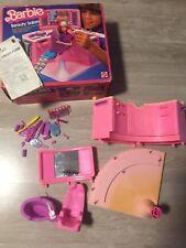 1983 Barbie Beauty Salon Con Box Originale Usato