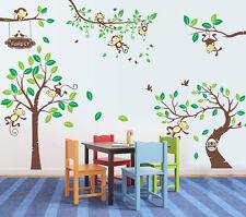Premium Wandtattoo  Wald Sticker ZooTiere Affe dekorativ Kinderzimmer XXXL A3
