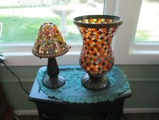 Partylite Global Fusion Mosaic Tealight & Hurricane Lamp