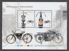 CANADA SOUVENIR SHEET 2646MNH MOTORCYCLES FROM UNCUT PRESS SHEET