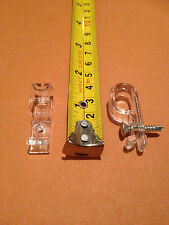 "20 x Child Safety Clear""P""Clip/Cleat for Roller,Vertical,Roman Blind Chain/cord,"