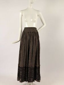 EDWARDIAN WOVEN COTTON SKIRT W LACE TRIMMED BOTTOM