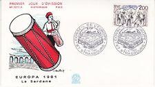 Enveloppe 1er jour FDC n°1211A- 1981 - Europa La Sardane