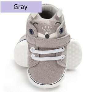 Cutest Baby Shoes Kid Boy Girl Fox Head Lace Cotton Cloth Bestselling First Step
