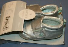 Carters Every Step Silver Shoes Sz 5 New Christy P2 Stage 2 Toddler Girls