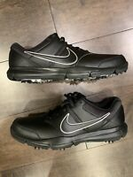 New Nike Durasport 4 Golf Shoes Cleats Black Silver 844550 001 Mens Size 10.5