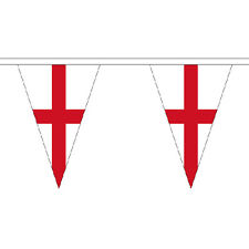 St George Cross Triangle 20m Bunting - 54 Flags England St Georges Day World Cup