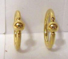Rings 8 mm Diameter 16 gauge 16g Pair Gold Titanium Nose Lip Cartilage Hoops
