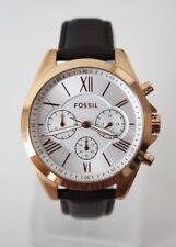 Fossil Damenuhr Armbanduhr BQ3381 rosegold braun Leder