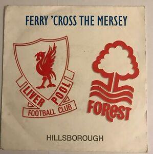 "Hillsborough - ""Ferry 'Cross The Mersey""  7"" (1989) Liverpool F.C / PWL41 / LOG8"