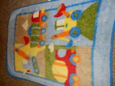 New listing 30x45 Vintage Circo Construction Boa Minky Acrylic Plush Crib Baby Blanket