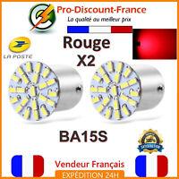 2 x Ampoule 22 LED BA15S 1156 P21W Rouge Voiture Feux Stop Veilleuse Ampoules