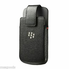 New BlackBerry Q10 Bold 9900 9930 OEM Leather Swivel Case Holster Clip Pouch