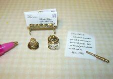 Miniature Brooke Tucker Victorian Desk Set: DOLLHOUSE Miniatures 1/12 Scale