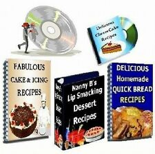 Cake, Icing, Cheesecake & Quick Bread  4 Cookbooks on CD