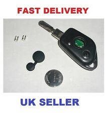 PEUGEOT 406 2 BUTTON REMOTE KEY FOB REPAIR KIT SWITCHES RUBBER + BATTERY
