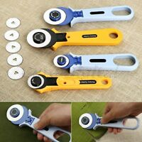 Cloth Cutting Knife Roller Wheel Round Cutter Quilting Patchwork Sewing Portable