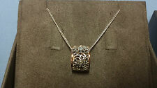 """Welsh Clogau Silver & Rose Gold Royal Roses Pendant 17"""" Chain RRP £149"""