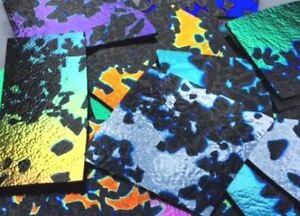 Glass Fusing Supplies CBS Dichroic Splatter Random Cuts Black 28 Grams   90 C.O.