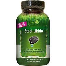 Irwin Naturals Steel Libido for Men Enhance Male Performance Pleasure - 150 Gels