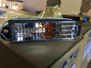 Blinkers Front indicator Turn Signal Lights CLEAR for BMW 3 Series E30 facelift