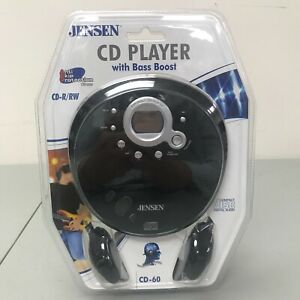 Jensen Portable CD Player CD-60 Bass Boost CD-R/RW Anti-Skip Protect NEW, Sealed