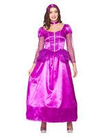 Adult Ladies Purple Rapunzel Fairytale Princess Storybook Fancy Dress Costume