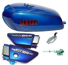Yamaha Rx100 Rx125 Blue Petrol Fuel Tank With Side Panel Lid Cap,Tap S2u