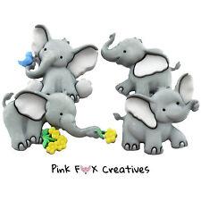 Tiny troncos Vestido para arriba Novedad Craft Botones animales del zoológico Elefante Jugar Embelish